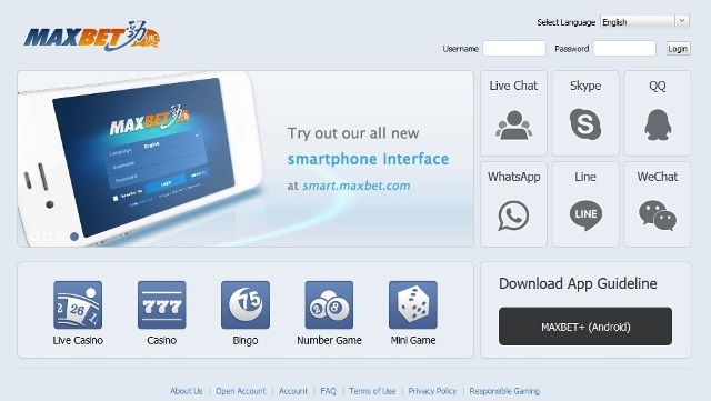 Maxbit log-in