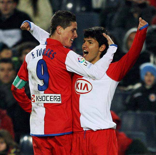 Torres and Aguero in at.madrid football club