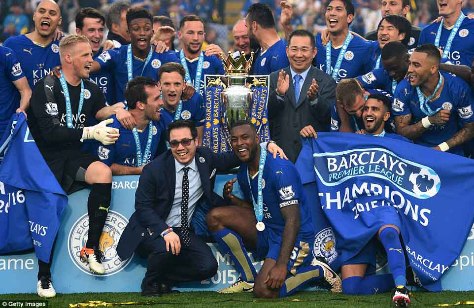 leicester city champions premier league 2015/2016 seasons