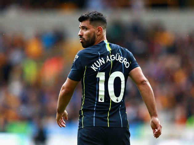 Aguero Striker Manchester City Number 10
